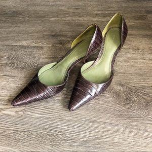 Ann Taylor | Brown Leather | Alligator | Size 5.5
